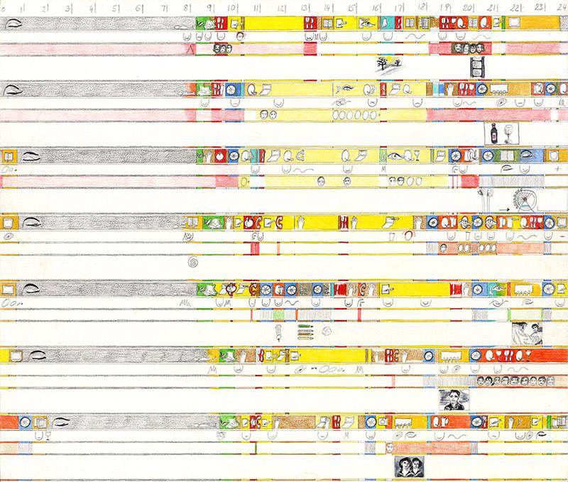 9. Woche 2004 Farbstiftzeichnung 35,6 x 41,7cm